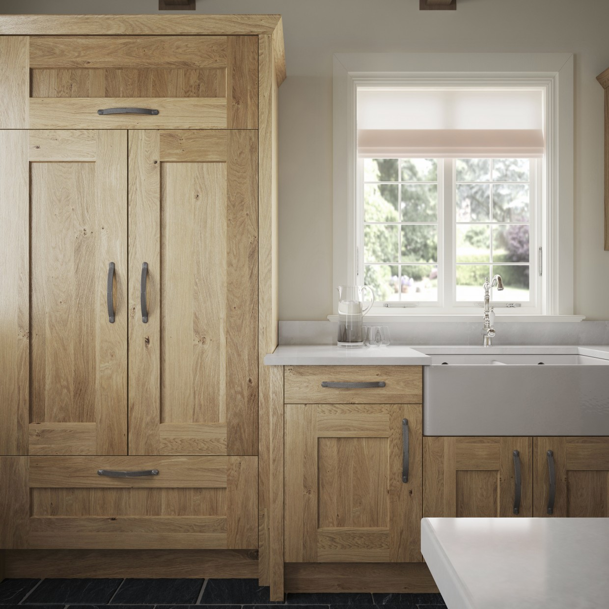 Knotty White Oak Cabinets: Kitchen Solutions Kilkenny