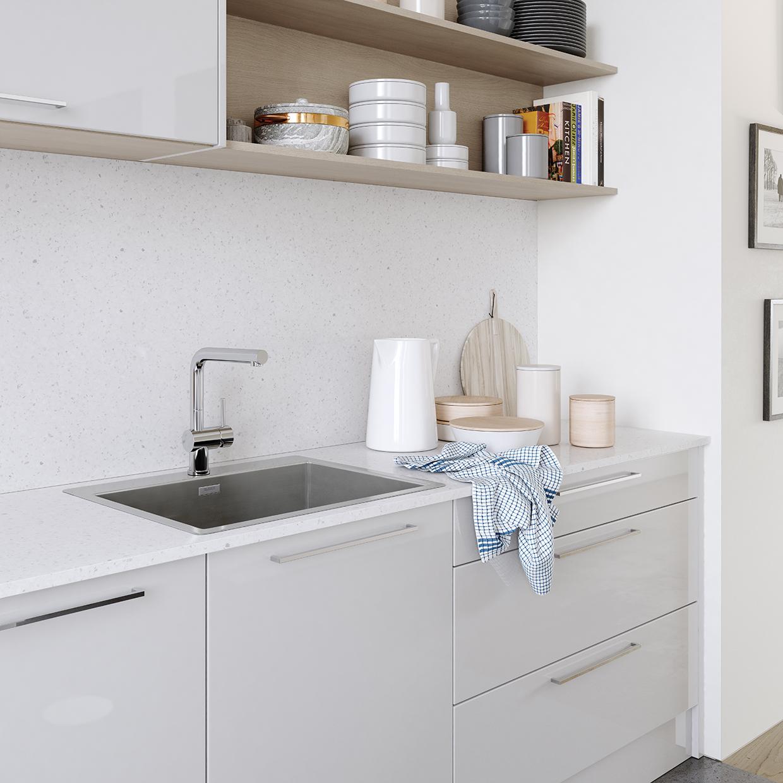 Zola Gloss Light Grey Gloss Kitchen